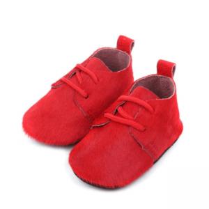 Leren babyschoenen rood