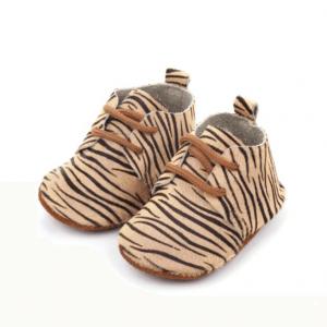 Leren babyschoenen tijger