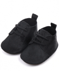 Leren babyschoenen zwart
