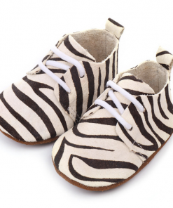 Leren babyschoenen Zebra
